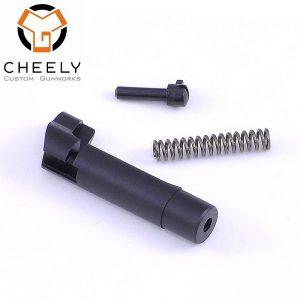 Cheely Custom Mag Release - Metal Grip D&T - Black