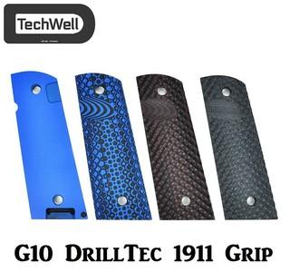 TechWell G10 DrillTec Semi-Aggressive 1911 Grip